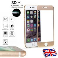 Carbon Fiber 3D Curved Screen Protector Tempered Glass for iPhone 7 Plus Gold