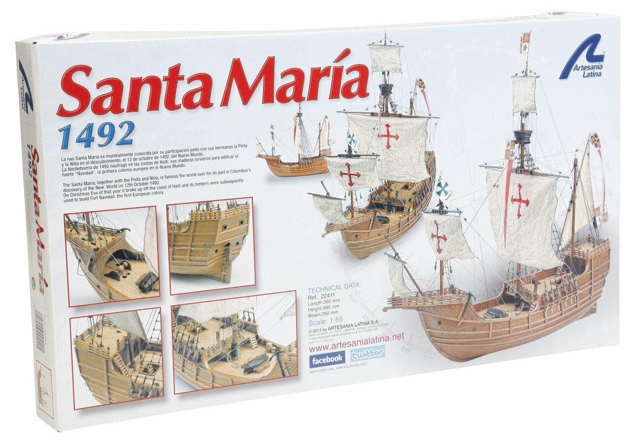 Kit montaggio nave in legno Artesania Latina Santa Maria 1492 scala 1 65