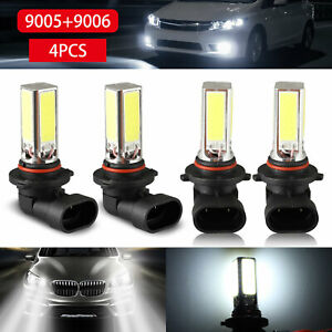 9005-9006-Combo-200W-LED-Headlight-Bulb-Kits-High-Low-Beam-Fog-Light-White-6000K