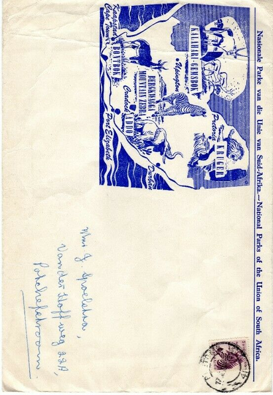 Commemorative Stamp & Envelope Set - National Parks of the Union of South Africa 1958