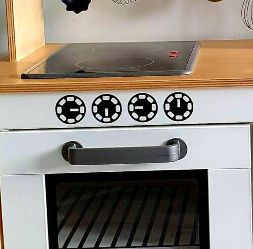 Jouer Cuisine Vinyle Autocollant Set four et micro-ondes Bordure micro-ondes et four cadrans