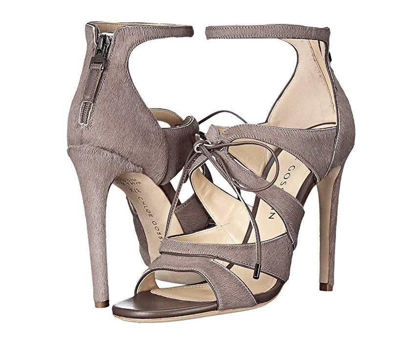 Chloe Gosselin Bryonia femmes femmes femmes Taupe Calf Hair High Heel Sandals Sz 40 EUR 7493 8870c2
