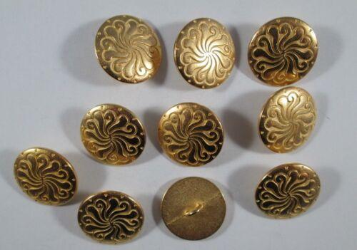 Metall  Knopf Knöpfe 10  stück  gold      20  mm groß  #1527#