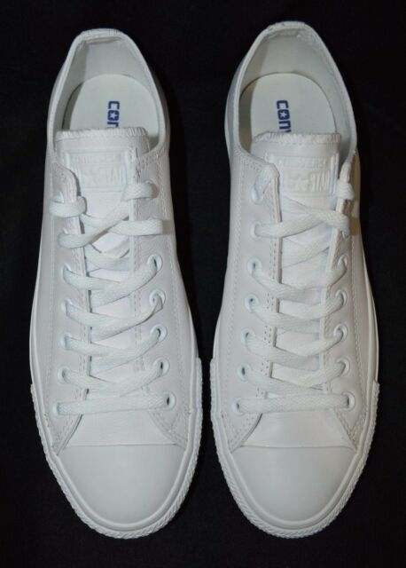 d860a8db8a2a6e Converse Chuck Taylor All Star Ox Leather 136823c White Casual Shoes Medium  Men Whites 11