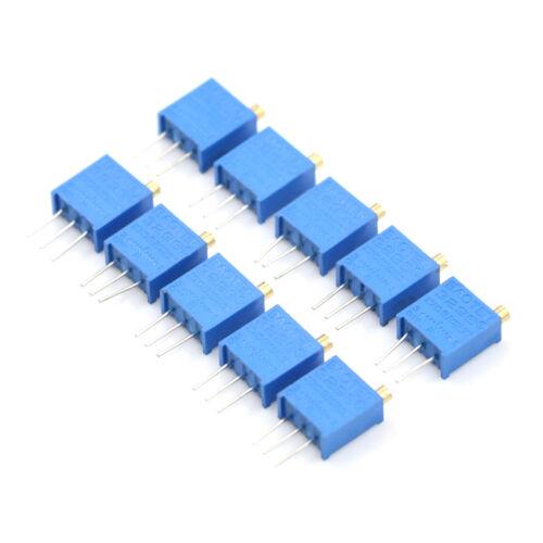 10Pcs Blue 103 10K Ohm 3296W Trim Pot Trimmer Potentiometer    HG HgYBZPTUK