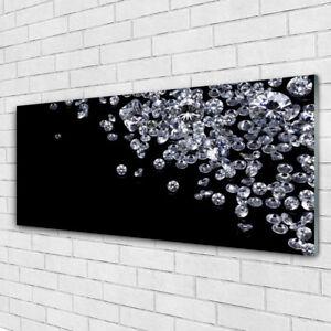Glasbilder Wandbild Druck auf Glas 125x50 Diamanten Kunst