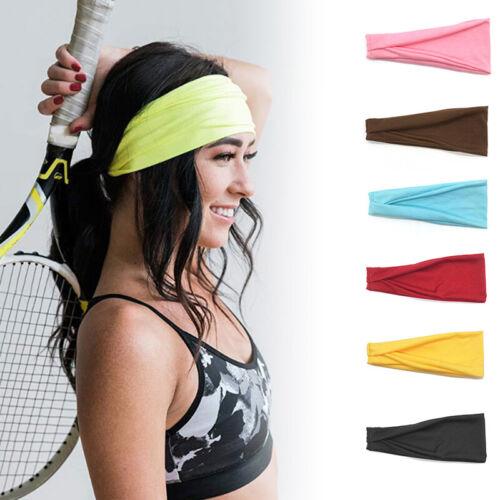 Unsiex Stretchy Sports Gym Cotton Sweatbands Sweat Bands Headband Hair Band Hot