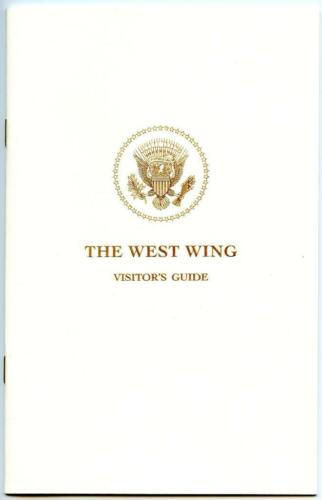 March 2017 White House West Wing VIP Tour Visitor/'s Guide Book 1st Donald Trump