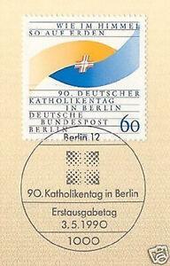 Berlin 1990: 90. Deutscher Katholikentag Nº 873 Avec Ersttags-cachet Spécial! 1a-rstempel! 1afr-fr Afficher Le Titre D'origine