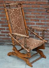 Antique Eastlake Victorian Rocking Chair Carved Walnut SUPER CLEAN Ships 48 FAST