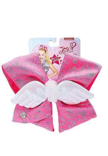 Alligator Clip NWT Justice Exclusive Pugicorn Jojo Siwa Pink Ribbon Hair Bow