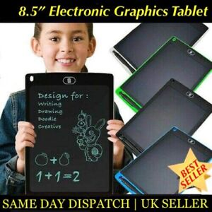 Electronic-Digital-LCD-Writing-Tablet-Drawing-Board-Graphics-for-Kids-Gift-UK