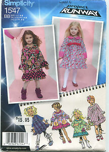 Simplicity 1547 Girls Dresses Sewing Pattern Size 4-8