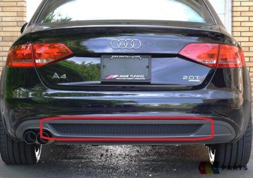 NUOVO Originale Audi A4 B8 PARAURTI POSTERIORE S linea inferiore DIFFUSORE Trim nero 8k080783301c