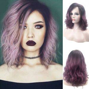 Women-Ombre-Purple-Wig-Curly-Wig-Wave-Synthetic-Hair-Cosplay-Party-Wigs-Costume