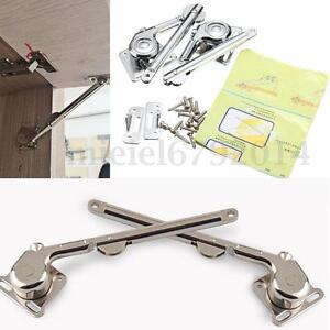 2 lift up lid support door stay piston hinge kitchen cupboard