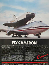 12/1980 PUB CAMERON FORGED PRODUCTS BOEING 747 LANDING GEAR SPACE SHUTTLE AD