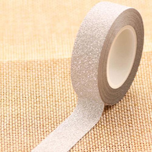 10m Glitter Washi Sticky Paper DIY Craft Decorative Masking Adhesive Tape