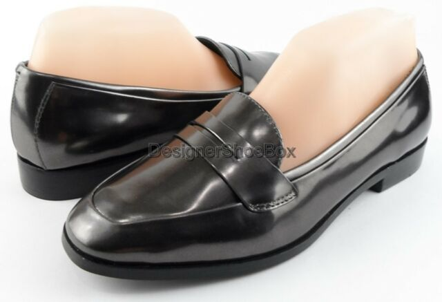 0ad3b450b Sigerson Morrison BIANCA Anthracite Leather Womens DESIGNER Slip on Loafers  6