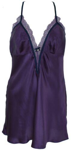 Intimissimi original satin viole Womens slip Nightdres 100/% silk size S