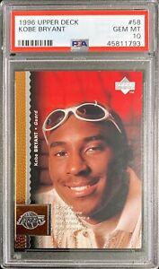 Kobe-Bryant-1996-97-Upper-Deck-58-RC-Rookie-PSA-10-GEM-MINT-Los-Angeles-Lakers