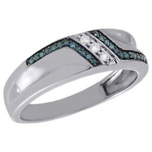 bague diamant bleu
