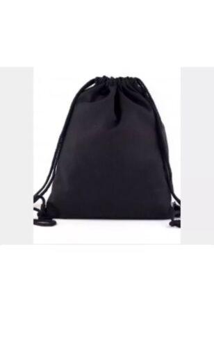 100/% Cotton Black  PE//GYM Bag,
