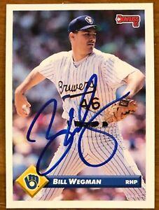 BILL-WEGMAN-100-AUTHENTIC-AUTOGRAPHED-1993-DONRUSS-CARD-BASEBALL-STAR