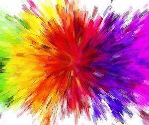 Color Splash Rainbow Colors Mouse Pad 9 X 7 Ebay