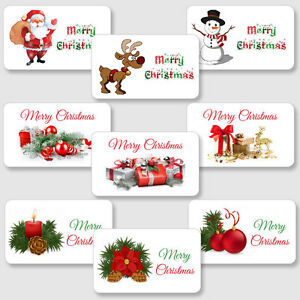 image is loading merry christmas stickers labels for gifts presents school - Merry Christmas Stickers