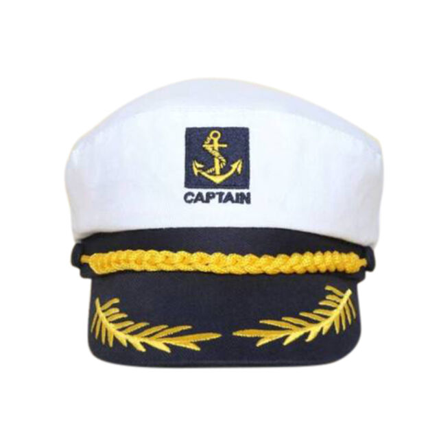 5ea849c753fcd Unisex Skipper Ship Sailor Navy Yacht Military Captain Nautical Hat Cap TL
