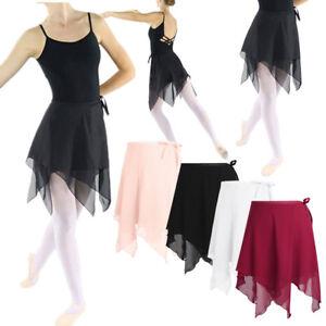 189e9757d New Women Kids Chiffon Ballet Wrap over Scarf Skirt Dance Leotard ...