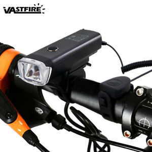 USB-Rechargeable-LED-Bicycle-Headlight-Bike-Head-Light-Front-Lamp-Cycling-amp-Horn