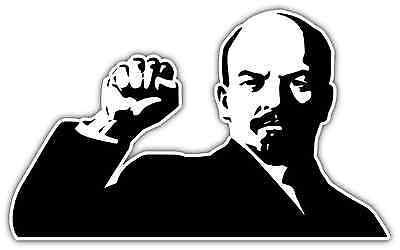 "Lenin Russian Communist Revolutionary USSR Car Bumper Vinyl Sticker Decal 5""X4"""
