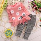 Cute Toddler Baby Girls T-shirt Peplum Dress & Leggings Pants Outfit Set Clothes
