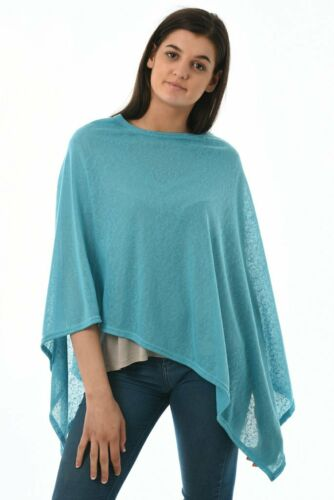 Hot Colours Stunning Summer Weight Ladies Fine Knit Poncho