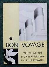 FRENCH LINE CGT ARCHIVE HARTMANN STEAMER TRUNKS & LUGGAGE BROCHURE RARE 1920'S