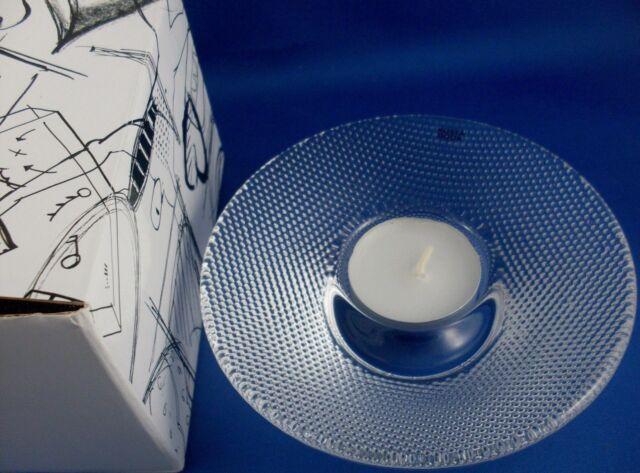 New KOSTA BODA Sweden LIMELIGHT Scandinavian ART GLASS Candle Holder Boxed in Au