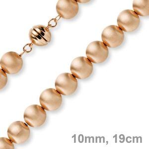 10mm-Kugel-Armband-Armkette-Armschmuck-aus-585-Gold-Rotgold-mattiert-19cm-Damen