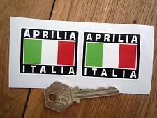 Aprilia Italia Tricolore estilo pegatinas 50mm Par Casco De Moto Superbike