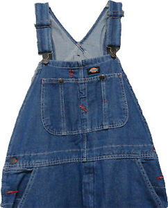 Dickies-8396SNB-Stone-Wash-Bib-Overall-WAIST-Size-30-to-50