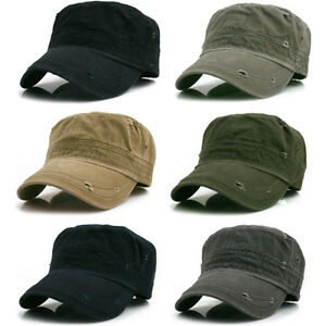 72bad8dc423 Image is loading Nwt-Vintage-Washing-Military-Hats-Army-Cap-Distressed-