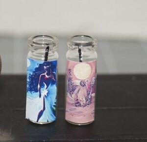 YEMAYA Lot x2 Miniature Dollhouse Prayer CANDLE Yemoja Altar Voodoo Orisha
