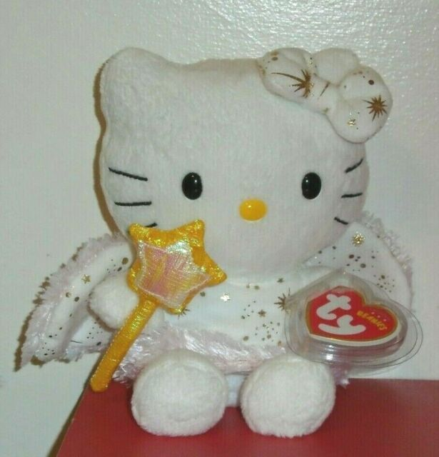 Hello Kitty Gold Angel MINT UK Excl Ty Beanie Baby Collectible Plush ... 03010a0330ce