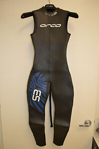 REPAIRED Orca S3 Sleeveless Men's Triathlon Wetsuit-Size 4- Also fits Women's S