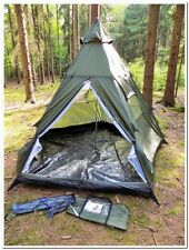 Militaryu0026Outdoor 3+1 Man Pyramid Tipi Tent C&ing Hunting Waterproof Shelter & Eureka Lone Tree 3 Pyramid Tipi Tent Three Man Lightweight ...