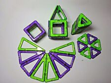Magformers 46 pc Purple & Green Magnetic Magnets Construction Set