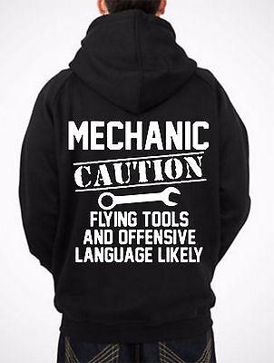 Maintenance Mechanic Caution Tee Shirt Hoodie Sweatshirt