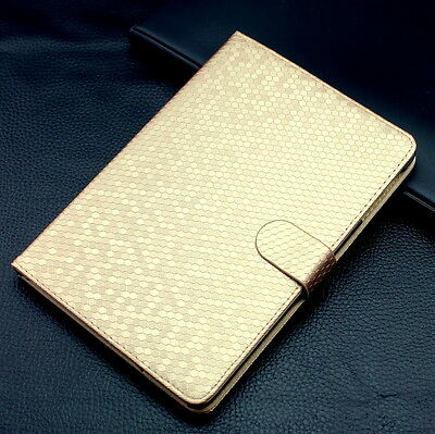Luxury Diamond Pattern Leather Flip Case Magnetic Smart Cover Stand For iPad
