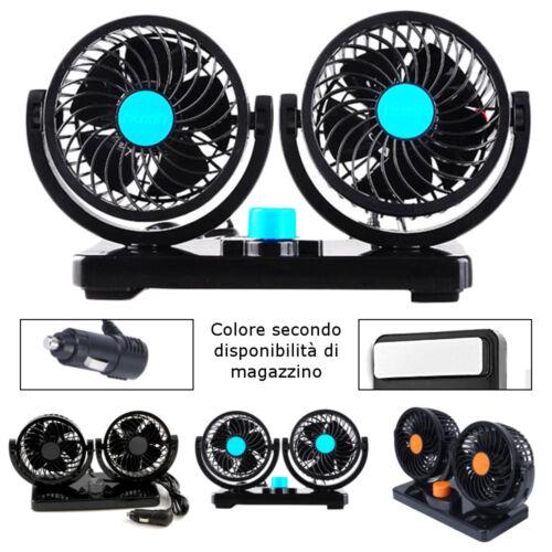 Doppio ventilatore regolabile per auto camion camper furgone 12V 24V aria fresca